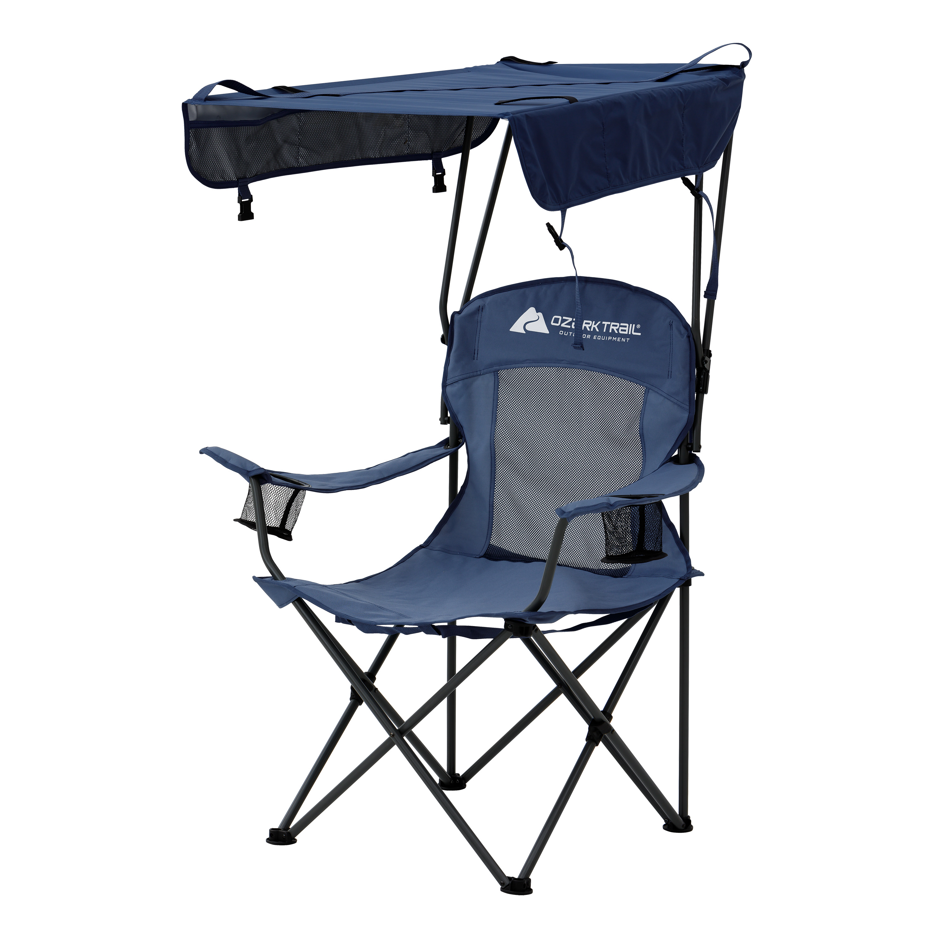Ozark Trail Sand Island Shaded Canopy Camping Chair with Cup Holders