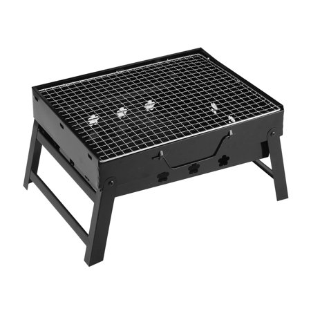 Barbecue Grill Portable Lightweight Charcoal Grill Foldable BBQ Grill for Outdoor Campers Lovers Travel etc, Small