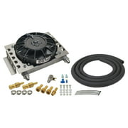 DERALE 12-3/4 x 9-3/8 x 4-5/16 in Fluid Cooler/Fan P/N 15950
