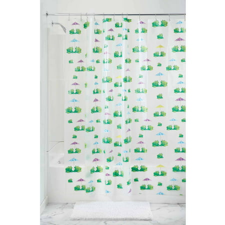 InterDesign Frogs Frosted PEVA Shower Curtain 72 X