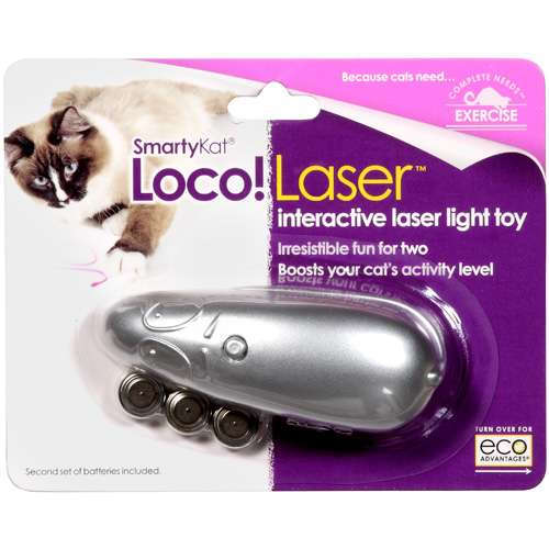 Smartykat: Loco! Laser Blue Mouse Cat Toy, 1 Ct
