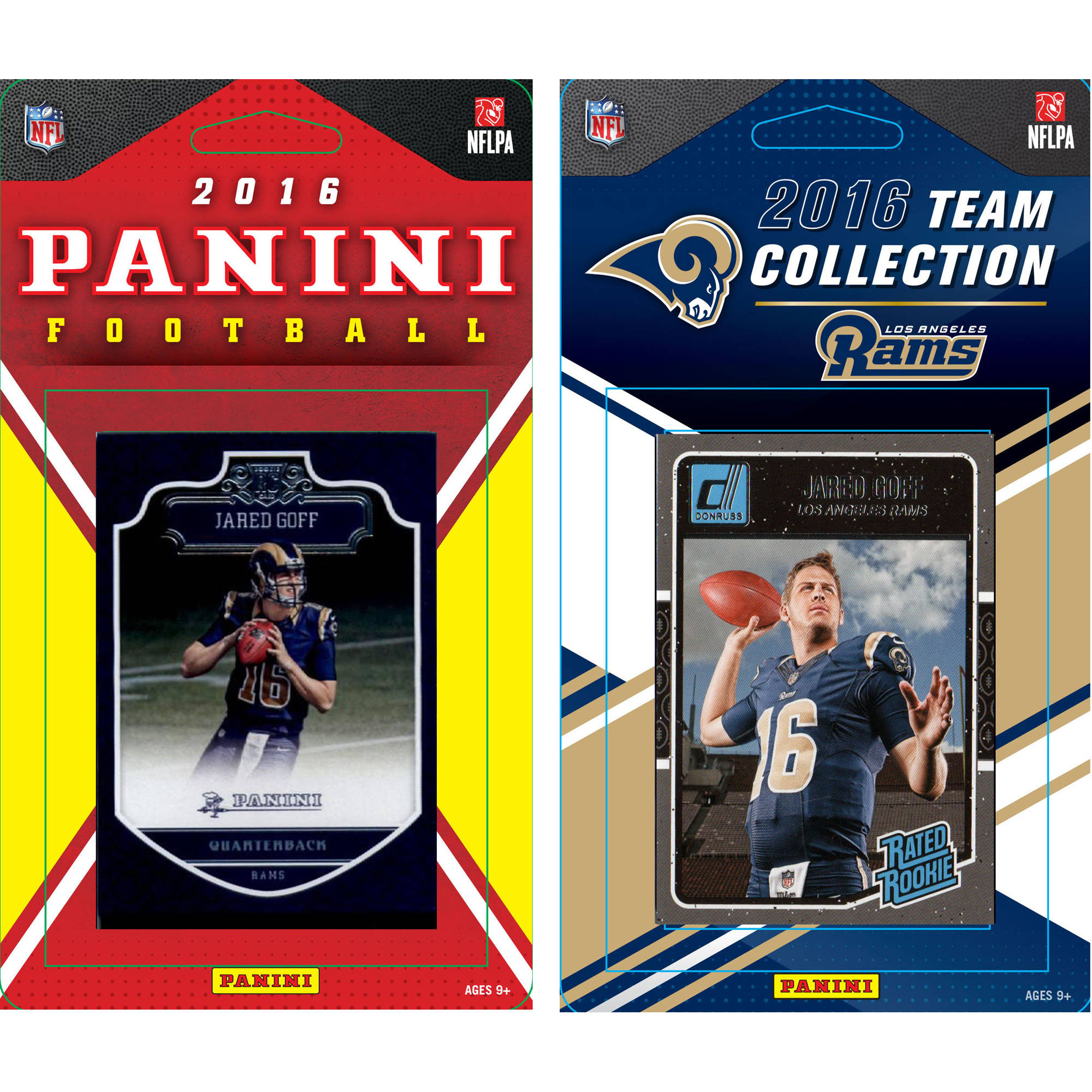 C & I Collectables NFL Los Angeles Rams Licensed 2016 Panini and Donruss Team set