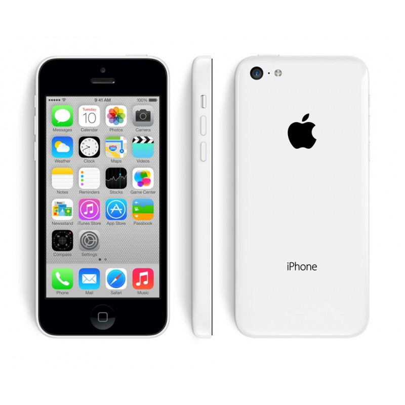 Apple iPhone w/ MFi Certified Cable : White/iPhone 5c-8GB...
