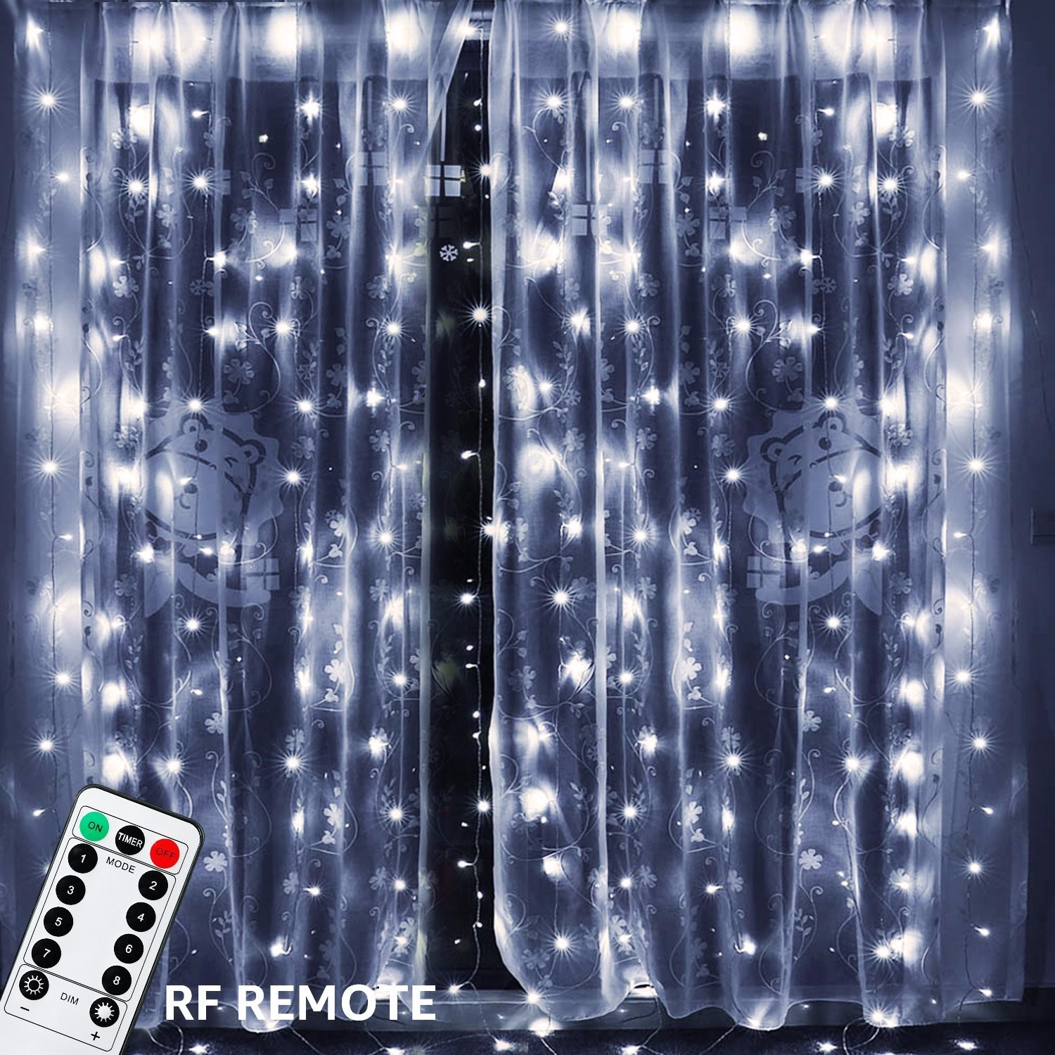 TORCHSTAR 9.8ft x 9.8ft LED Curtain Lights, Starry Christmas String Light, Indoor Decoration for Festival... by TORCHSTAR