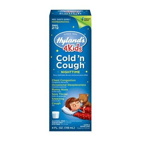 Hyland's 4 Kids Cold 'n Cough Nighttime Ages 2 - 12, 4.0 FL (Hylands 4 Kids Cold N Cough Dosage)