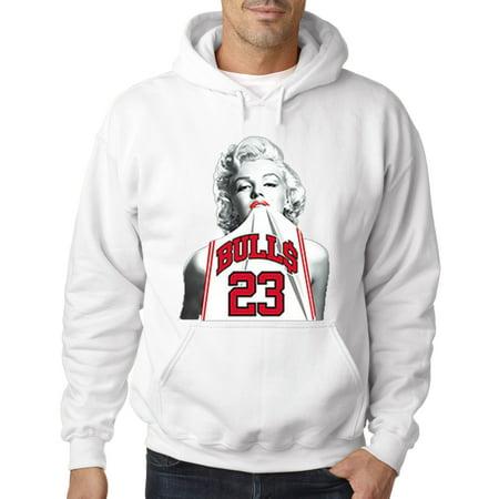 193 - Hoodie Marilyn Monroe Bulls 23 Jordan Jersey Sweatshirt