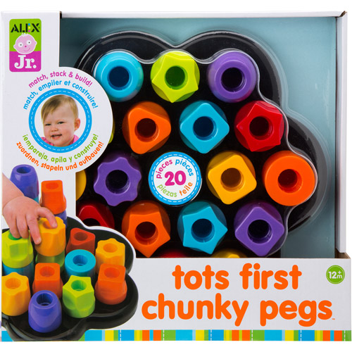 ALEX Toys Early Learning, Tots First Chunky Pegs for Developing Motor Skills