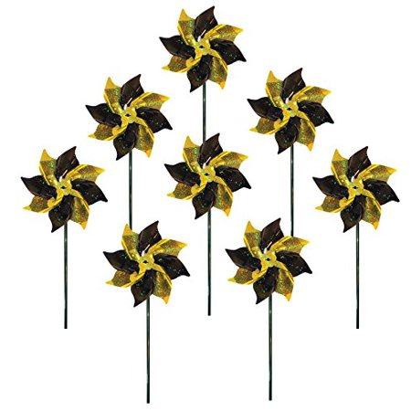 In the Breeze Spirit Pinwheels, Black/Yellow, 8