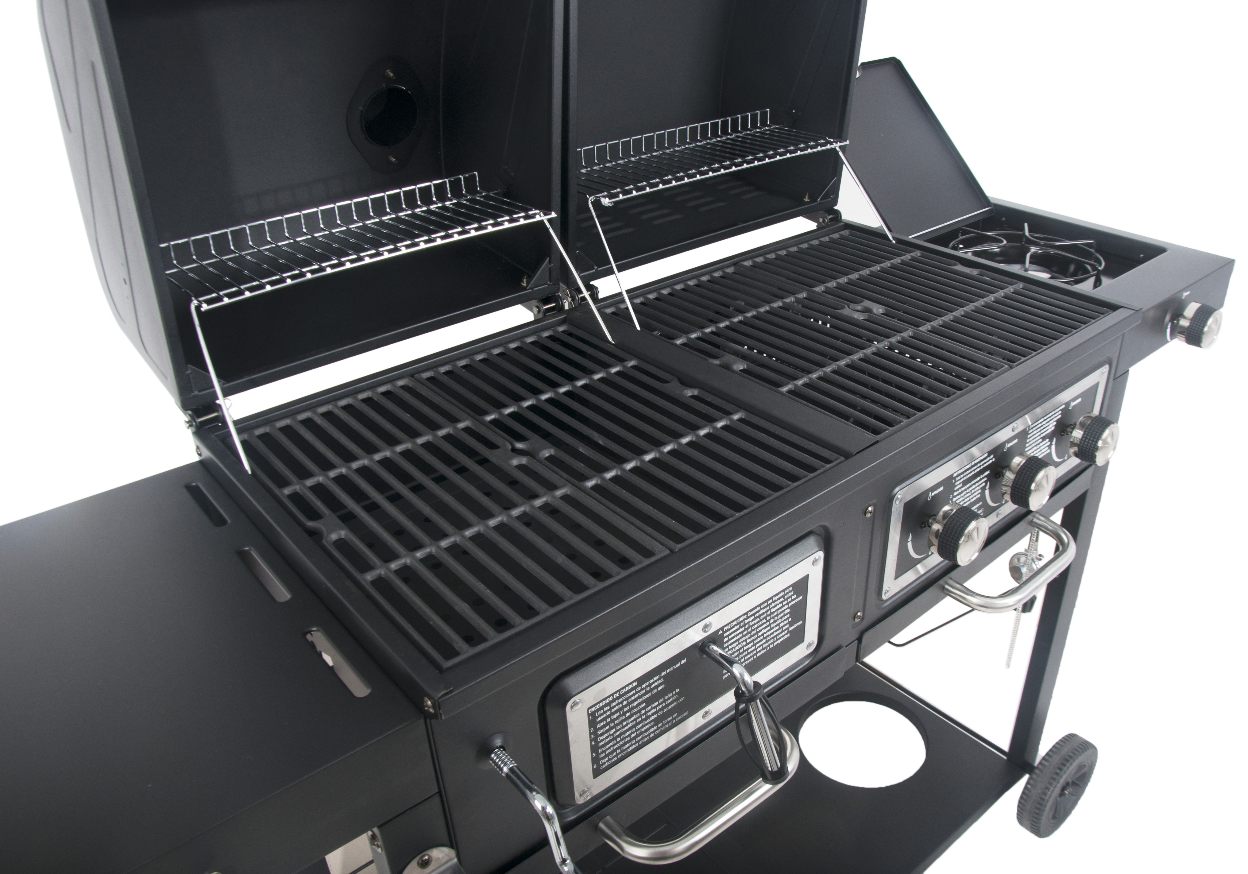 Backyard Grill Dual Gas Charcoal Grill Burner BBQ Outdoor ...