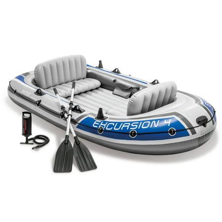 10 Aluminum Boat - Intex - Excursion 4 Boat Set