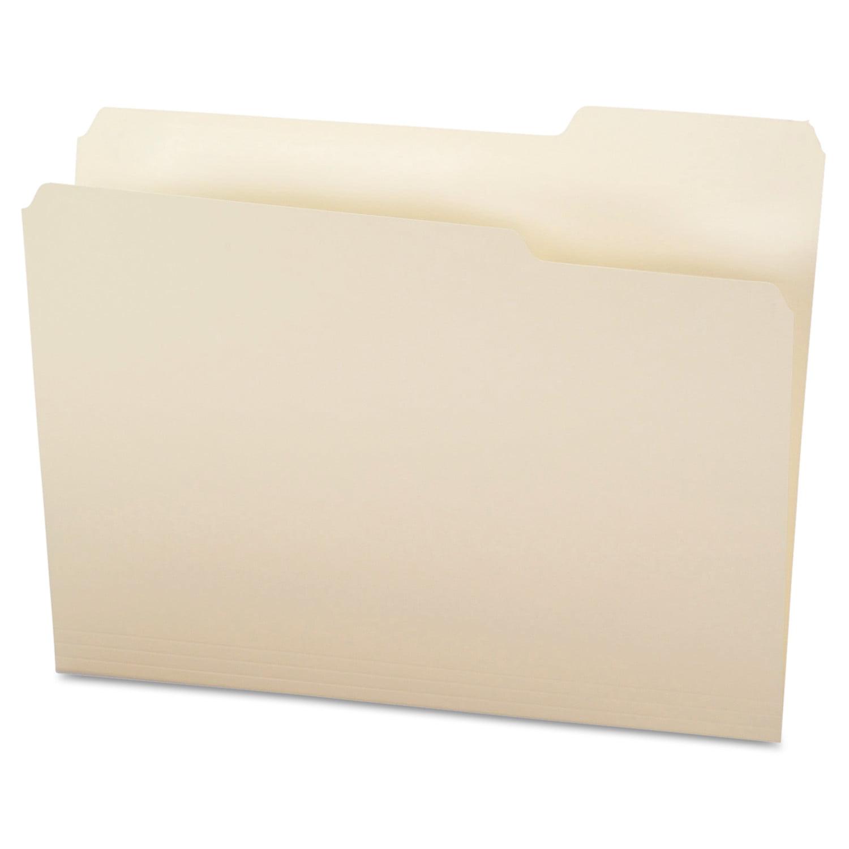 Office Impressions File Folders, 1/3 Cut Top Tab, Letter, Manila, 100/Box