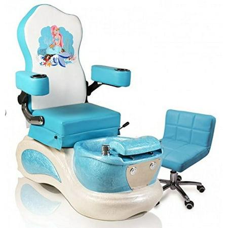 Kids Pedicure Chair BLUE MERMAID Childs Pedicure Spa Nail Salon Furniture & -