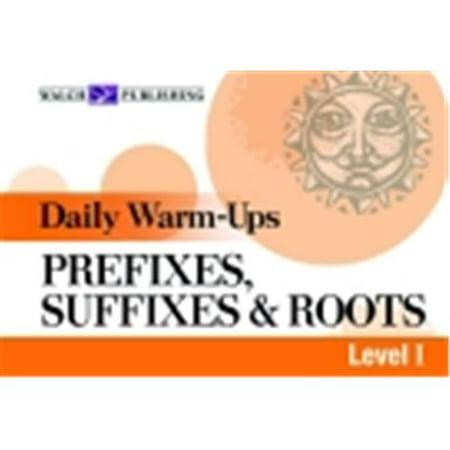 Walch Daily Warm-Ups Prefix Suffix Root I Paperback Education Book, Grade 5 - (Prefix And Suffix Exercises For Grade 5)
