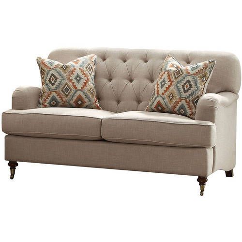 ACME Alianza Tufted Loveseat with 2 Pillows, Multiple Colors by
