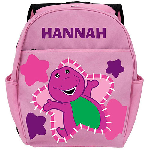 Personalized Barney Glamour Pink Backpack