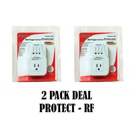 NEW AC Voltage Protector Brownout Surge Refrigerator 1800 Watt Appliance 2 PACK (Appliance Accessories)
