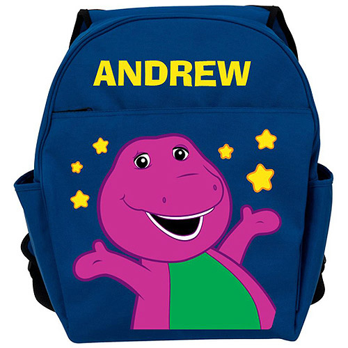 Personalized Barney Little Stars Blue Backpack