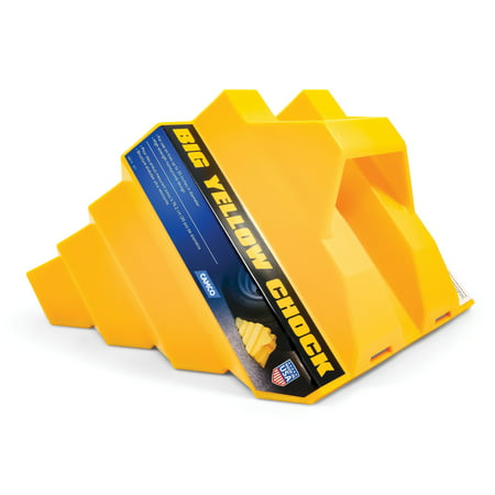 Camco 44419 Big Yellow Chock Without Rope, Helps Keep Your Trailer or RV In Place - Halloween 2 Trailer