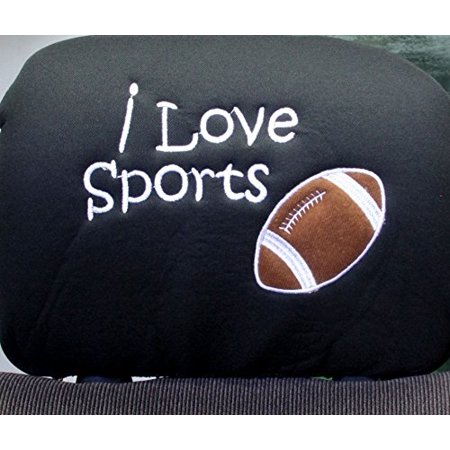 New Interchangeable I Love Sports Football Car Seat Headrest Cover Universal Fit for Cars Vans Trucks - One Piece Great Gift Idea Shipping Included](Vans Gifts)