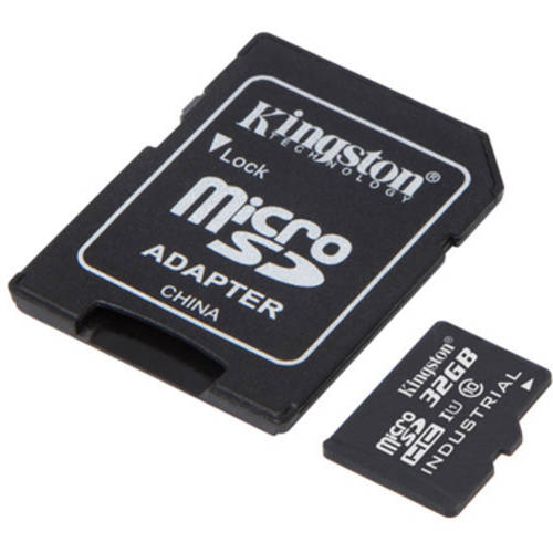 Kingston 32GB microSDHC UHS-I Class 10 Industrial Temp Card with SD Adapter