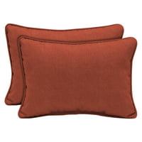Arden Selections Sedona Woven 15 x 22 in. Outdoor Lumbar Pillow, 2 pack