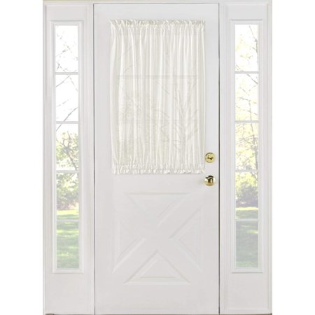 1PC French Door Panel Sheer Sidelight Door With 2 Tiebacks Avilabale in Multiple Colors and Sizes(27