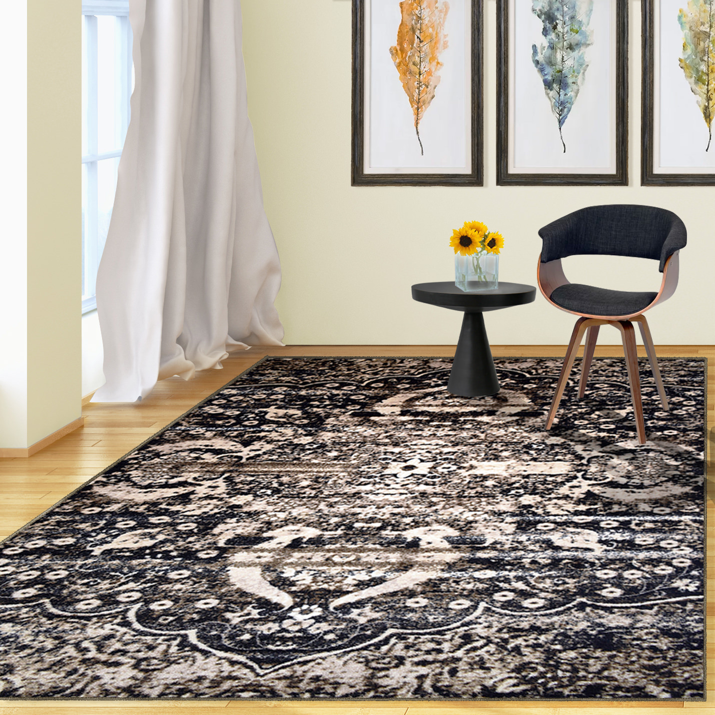 "Superior Designer Oswell Non-Skid Printed Area Rug - 2' 7"" x 8"" Runner"