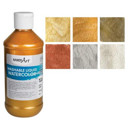 Handy Art Washable Metallic Liquid Watercolor Set](Metallic Watercolor)