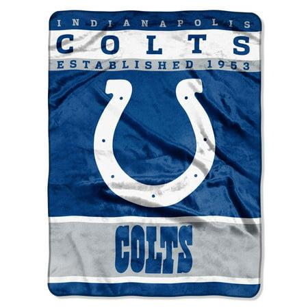 "Indianapolis Colts 60""x80"" Royal Plush Raschel Throw Blanket"