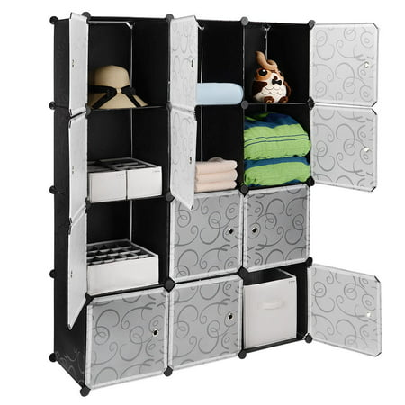 Sortwise Cube Plastic Portable Wardrobe Closet Organizer Storage Shelving Cabinet Diy