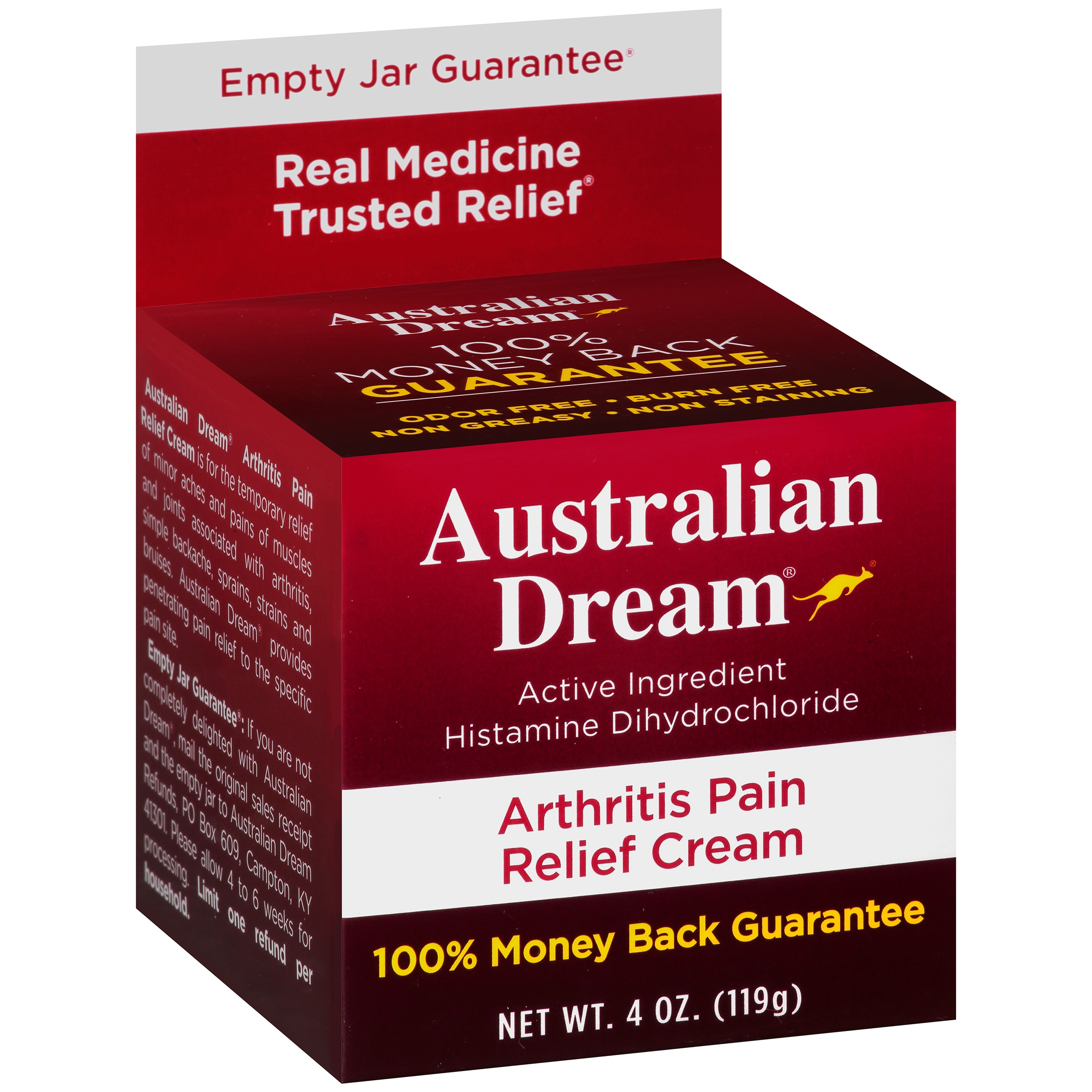 Australian Dream® Arthritis Pain Relief Cream 4 oz. Box