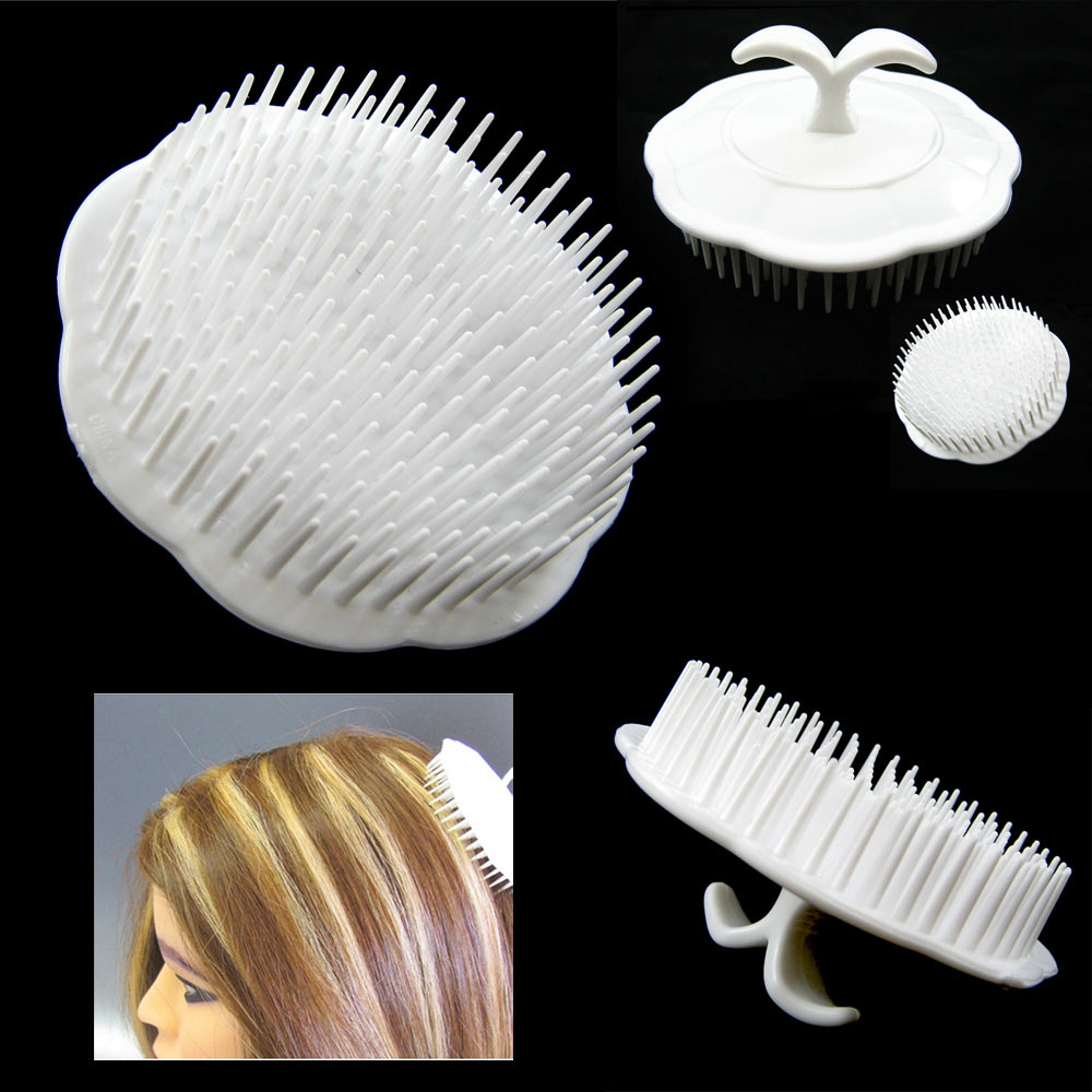 Deluxe Hair Shampoo Brush Scalp Clean Massage Massager Comb Head Care Salon New