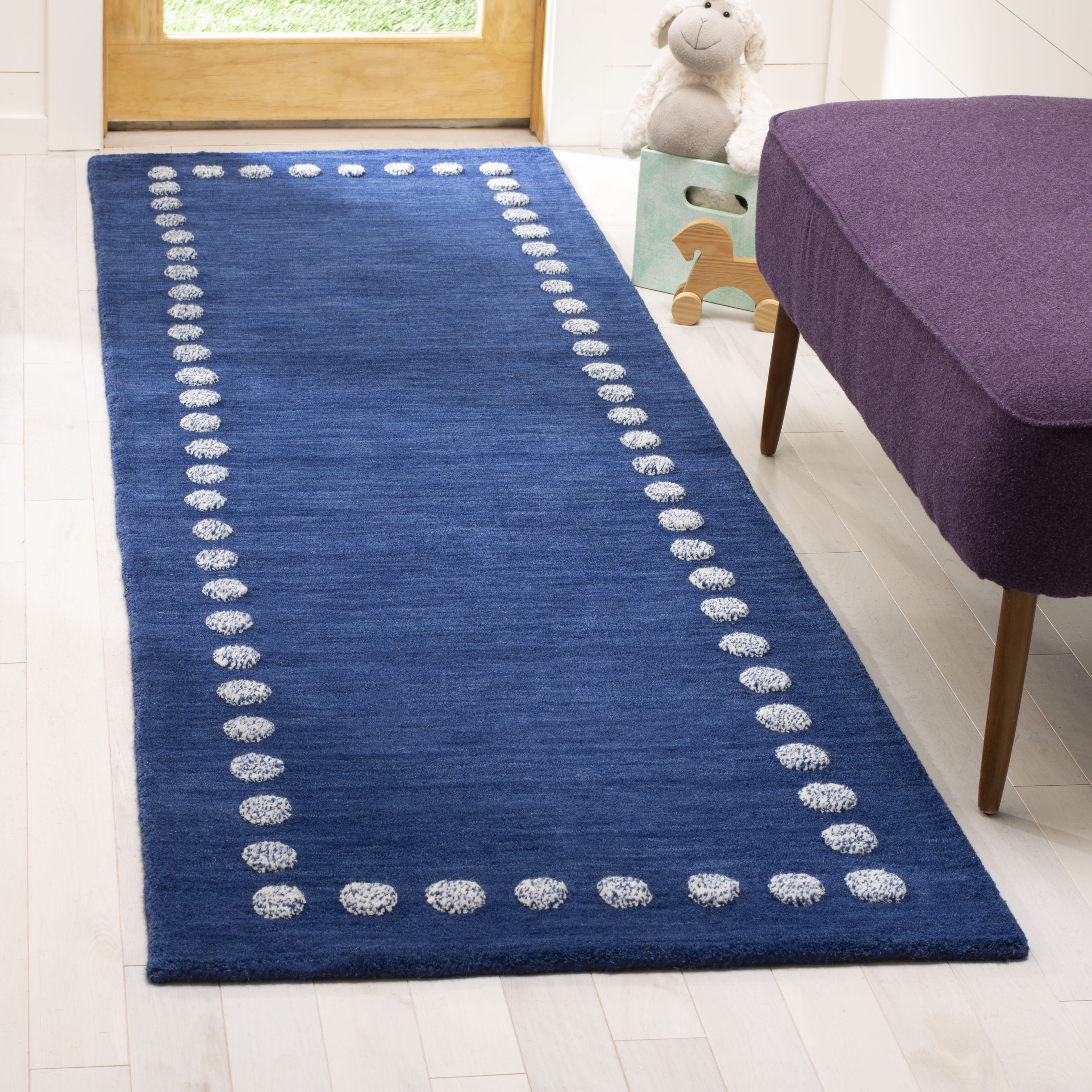 Safavieh Kids Fiona Solid Bordered Area Rug or Runner