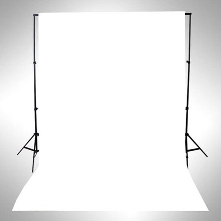 NK HOME Studio Photo Video Photography Backdrops 3x5ft Bright White Solid Color Vinyl Fabric Background Screen Props - Photo Stand In Props