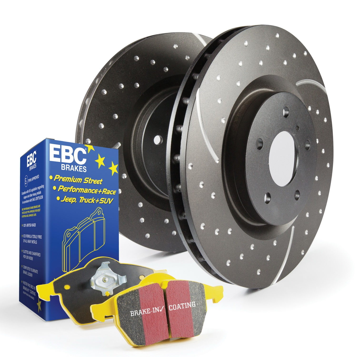 EBC Brakes S5KF1504 S5 Kits Yellowstuff And GD Rotors Fits Range Rover Sport