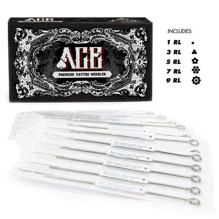 Ace Needles 50 Mixed Assorted Tattoo Needles 6 Sizes   Round Liner 1 3 5 7 9 11 Rl