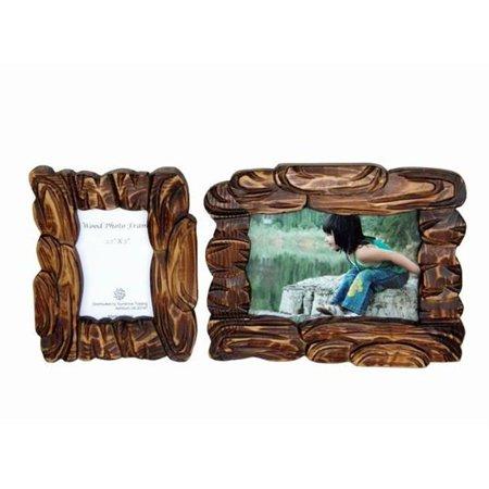 Sunshine Trading ST-17-7 Handmade Wood Photo Frame - 5 x 7 Inch