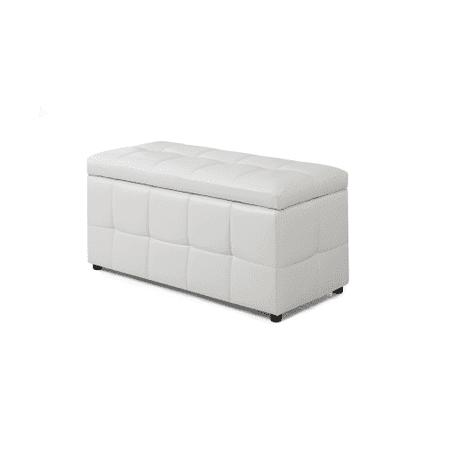 Miraculous Monarch Ottoman 38L Storage White Leatherlook Short Links Chair Design For Home Short Linksinfo