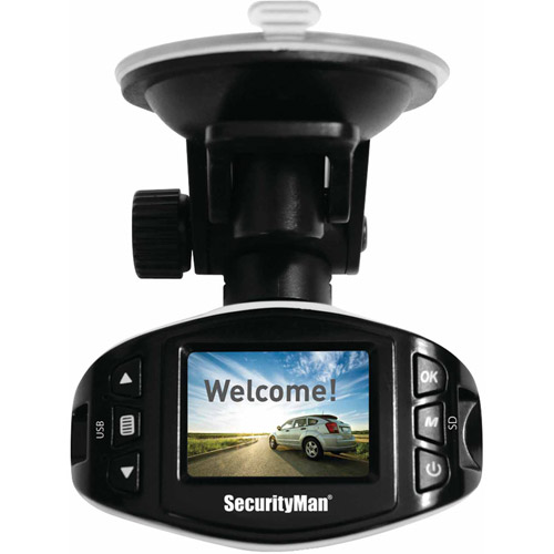 Securityman CARCAM-SDEII Mini HD Car Camera Recorder II with Impact-Sensing Recording