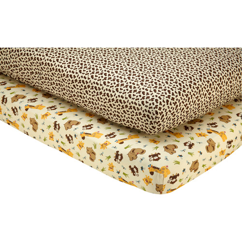 Little Bedding by NoJo - Jungle Dreams 2pk Crib Sheet