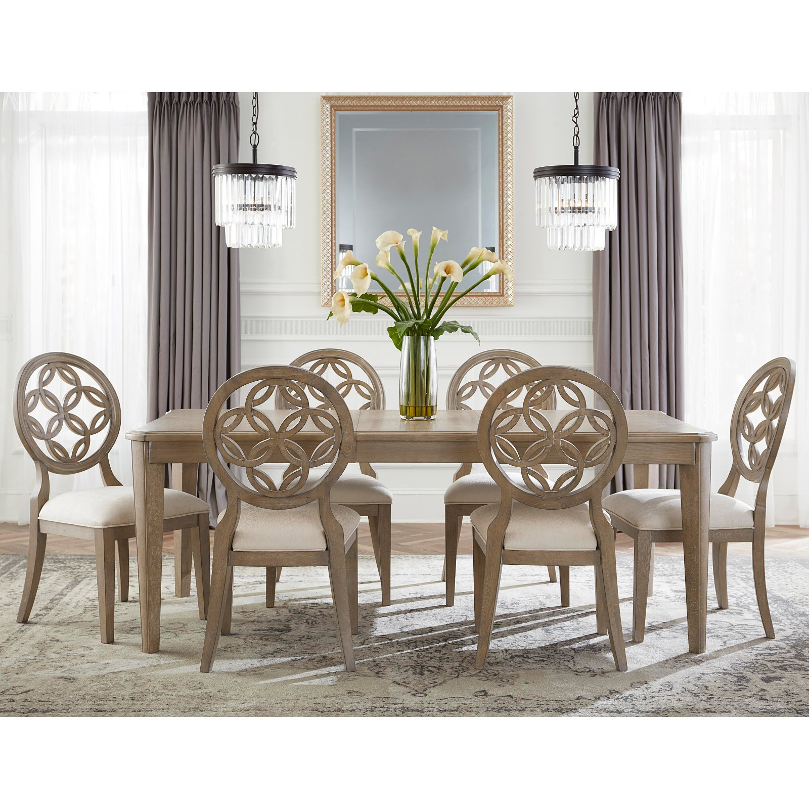 Hillsdale Furniture Savona 7-Piece Dining Set