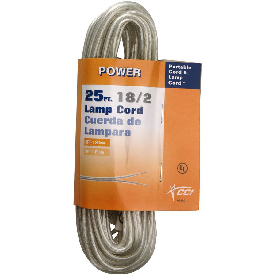Coleman Cable 18 2 25-Foot Lamp Cord, Silver by Coleman Cable