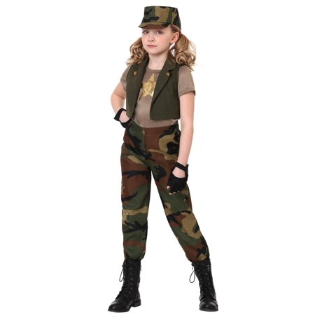 Girls Military Commander - Commander Fox Costume