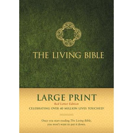 The Living Bible Large Print Red Letter Edition (Red Letter, Hardcover,