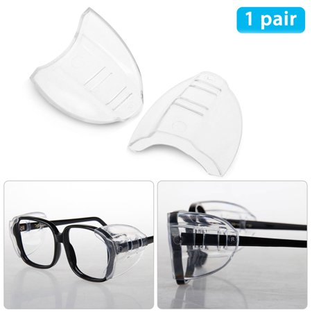 Eyeglasses With Lights (EEEKit Safety Eye Glasses Side Shields,Comfortable Protection for Your Eye,and Lightweight Design,Slip On Clear Side Shield Fits Small/Medium/Large)
