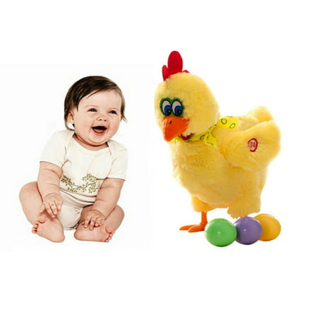 Children Fun Singing Dancing Chicken Laying Egg Hen Toy