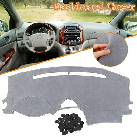 Dash Pad Cap (Dashboard Cover Dash Mat Pad Carpet Left Hand Grey For Toyota Sienna 2004-2007)