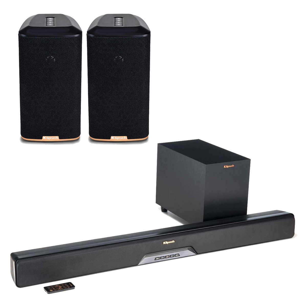 Klipsch RSB-8 Reference Sound Bar with Wireless Subwoofer with RW-1 Wireless Speakers