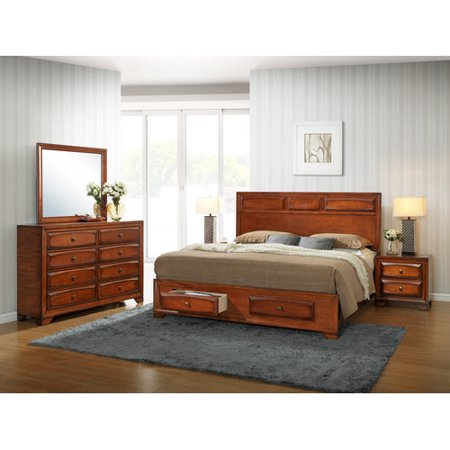 roundhill furniture oakland platform bedroom set