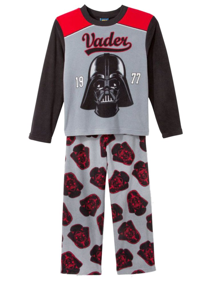 Star Wars Boys Gray Fleece Sleepwear Darth Vader 1977 Pajama Set 4